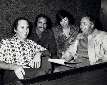 Buddy Killen, Burt Reynolds, Bobby Goldsboro, and Capital Records VP Charlie Fach