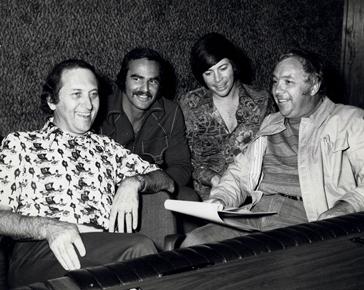 Buddy Killen, Burt Reynolds, Bobby Goldsboro, and Capital Records VP Charlie Fach