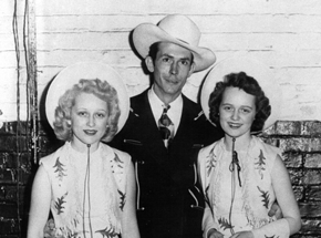 Shirley Webb, June Webb, Hank Sr. on Opry
